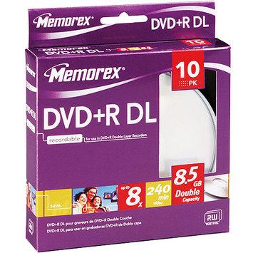 Memorex 8x DVD+R Double Layer Media - 8.5GB - 10 Pack