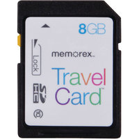 Memorex TravelCard 8GB Secure Digital High Capacity (SDHC) - 1 Card/1 Pack