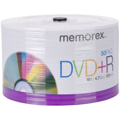 Memorex Dvd Recordable Media - Dvd+r - 16x - 4.70GB - 50 Pack Spindle - 120mm2 Hour Maximum Recording Time (99179)