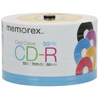Memorex Cd Recordable Media - Cd-r - 52x - 700MB - 50 Pack Spindle - 120mm1.33 Hour Maximum Recording Time (99188)