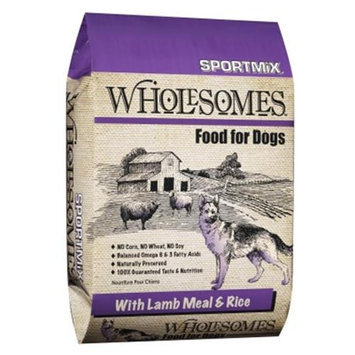 Sportmix Wholesomes Dog Food - Lamb Meal & Rice - 40 lbs.