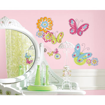 York Wall Coverings Brushwork Butterfly Peel and Stick Wall Decals