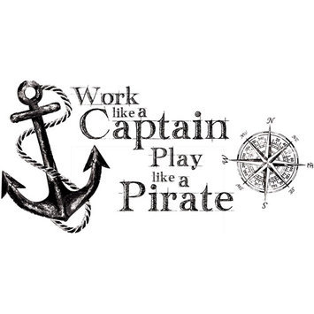 York Wall Coverings Work Like a Captain Quote Peel and Stick Wall Decals