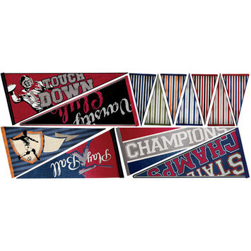 York Wall Coverings Varsity Pennants Peel and Stick Wall Decals