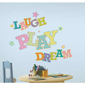 York Wall Coverings Laugh Play Dream Peel and Stick Giant Wall Decals
