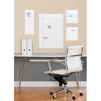 York Wall Coverings Notebook Paper Dry Erase Peel and Stick Giant Wall Decals
