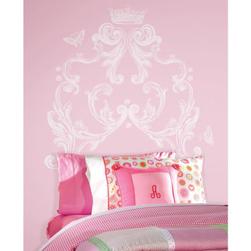 York Wall Coverings Scroll Headboard Peel and Stick Giant Wall Decal
