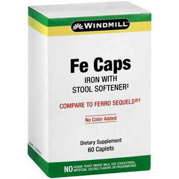 Fe Caps TR with Stool Softener, 60 Caplets, Windmill Health Products