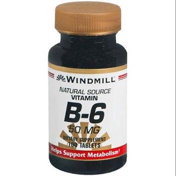 Vitamin B-6 50 mg, 100 Tablets, Windmill Health Products