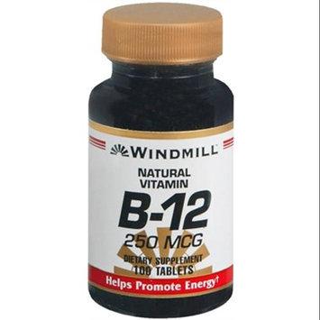 Vitamin B-12 250 mcg, 100 Tablets, Windmill Health Products