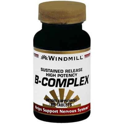 Vitamin B-Complex Sustained Release, 60 Tablets, Windmill Health Products