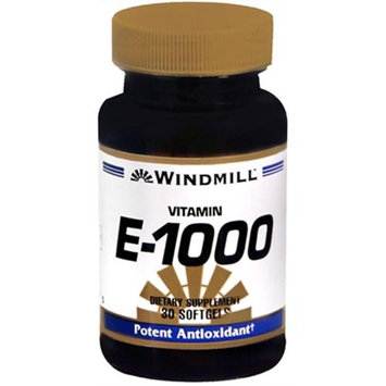 Vitamin E 1000 IU, 30 Softgels, Windmill Health Products