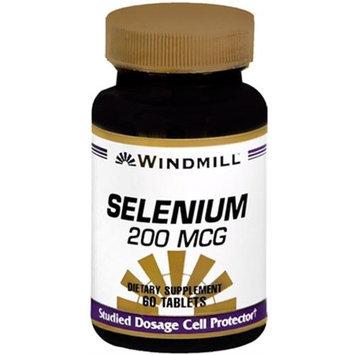 Selenium 200 mcg, 60 Tablets, Windmill Health Products