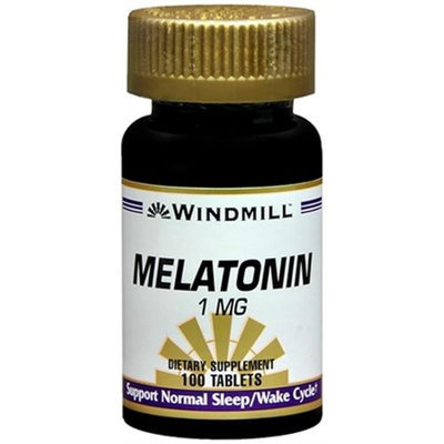 Melatonin 1 mg, 100 Tablets, Windmill Health Products