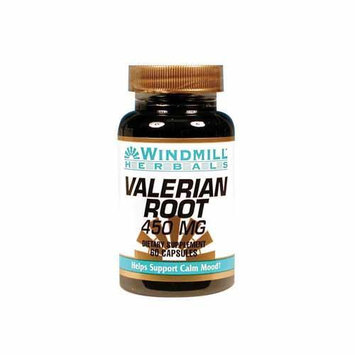 Valerian Root 450 mg, 60 Capsules, Windmill Health Products