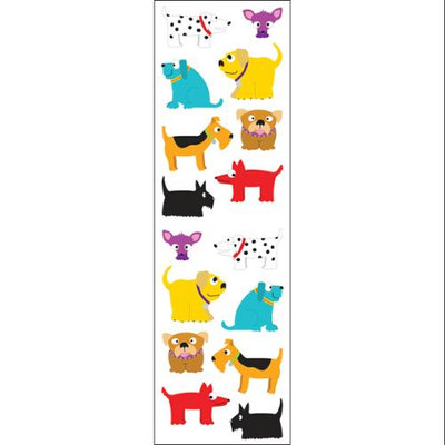 Mrs Grossman MG199-04063 Mrs. Grossmans Stickers-Chubby Dogs