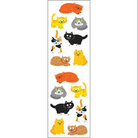 Mrs Grossman MG199-04153 Mrs. Grossmans Stickers-Chubby Cats