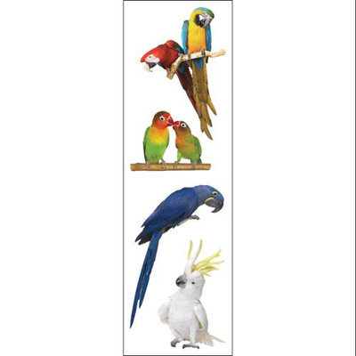 Mrs Grossman MG199-04463 Mrs. Grossmans Stickers-Exotic Birds