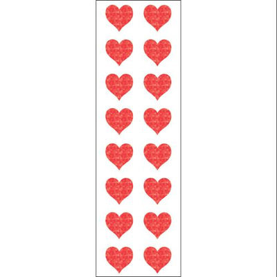 Mrs Grossman MG199-22133 Mrs. Grossmans Stickers-Small Red Hearts