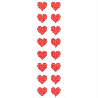 Mrs Grossman MG199-22133 Mrs. Grossmans Stickers-Small Red Hearts