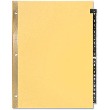 Sparco Products Black Leather Tab Indexes, A-Z, 11
