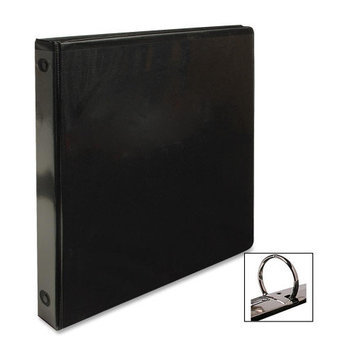 Business Source Round Ring View Binder, 1