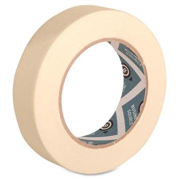 Business Source BSN16461 Masking Tape- 3inch Core- 1inchx60 Yards- Tan