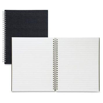 Sparco Twin-wire 9x7 Linen Notebook - 80 Page - Ruled - 7 X 9 - 1 Each Black Cover (spr-17709)
