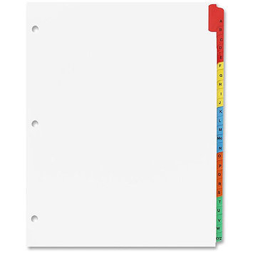 Sparco Products Index Dividers, w/Table Of Contents, Punched, A-Z, Multi