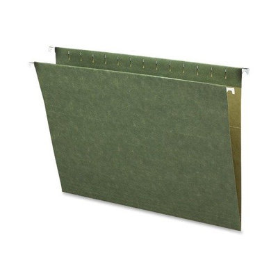 Business Source 26528 Hanging Folders w/o Tabs Letter 25/BX Green