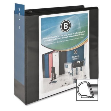 Business Source D-Ring View Binder, 3