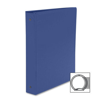 Business Source Round Ring Binder, w/ Pockets, 1-1/2