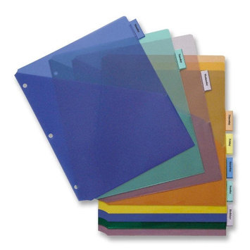 Business Source BSN32372 Pocket Index Dividers Pack of 8
