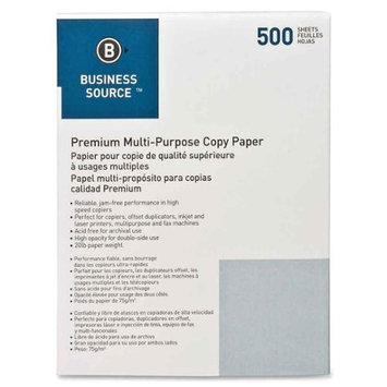 Business Source Copy and Multi Purpose Paper White Multipurpose Paper