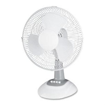 Lorell LLR44551 12-Inch Oscillating Desk Fan