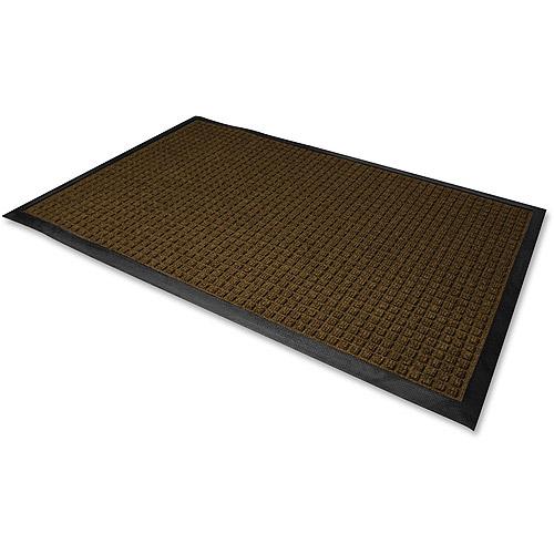 Genuine Joe Indoor/Outdoor Mat, Waterguard, 3'x5', Brown