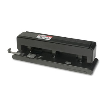 Business Source BSN62878 Effortless Hole Punch- 2-3 Holes- 40 Sh Capacity- Black