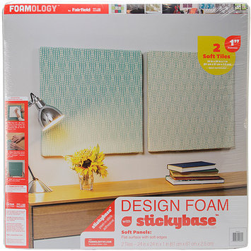 Fairfield Design Foam 24inX24inX1in 2/Pkg-White