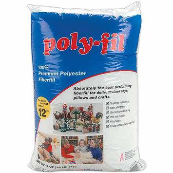 Fairfield Poly-Fil Premium Polyester Fiberfill, 12 oz, FOB: MI