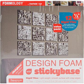 Fairfield Design Foam Rigid 12inX12inX1/2in 12/Pkg-White