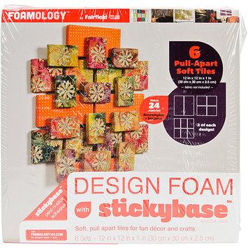 Fairfield Design Foam Geo-Set 12inX12inX1in 6/Pkg-White
