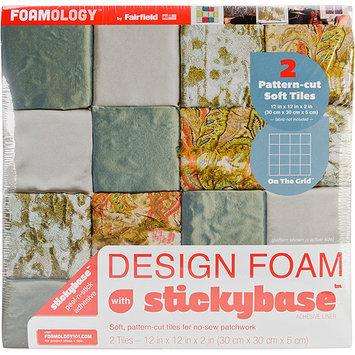 Fairfield Design Foam On The Grid 12inX12inX2in 2/Pkg-White