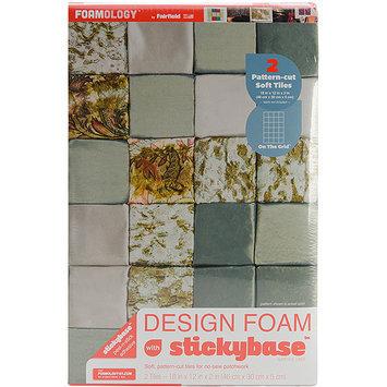Fairfield Design Foam On The Grid 18inX12inX2in 2/Pkg-White