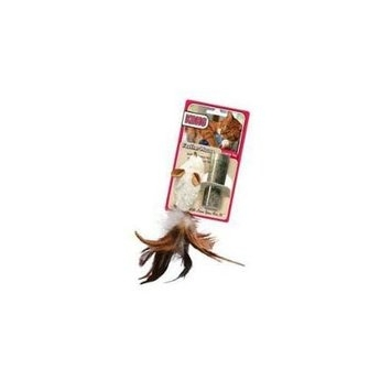 KONG Feather Mouse Catnip Toy (Colors vary)