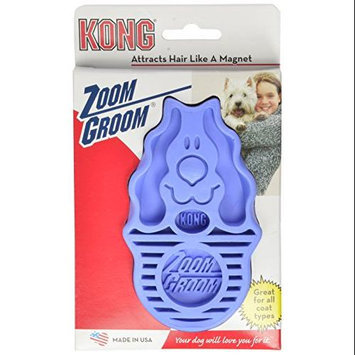 KONG ZoomGroom Dog Grooming Toy Boysenberry Blue