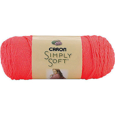 Caron Simply Soft Yarn Solids-Neon Coral