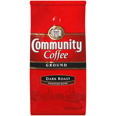 Community Coffee Ground Coffee, Dark Roast, 32 oz Bags, 2 pk