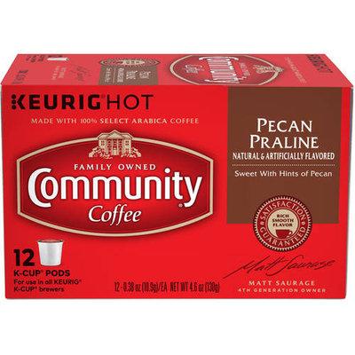 Community Coffee Pecan Praline Medium-Dark Roast Coffee Single Serve Cups, 12 count, 4.65 oz