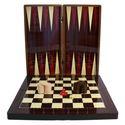 World Wise Imports 10 Inch Simple Wood Grain W/ Chess Board