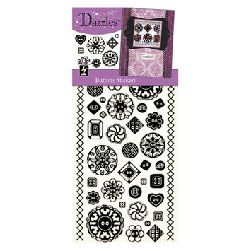 Dazzles Buttons Stickers